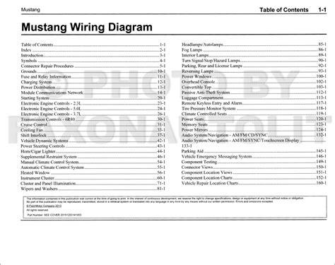 Ford Mustang Wiring Diagram Manual Original