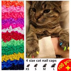 cat nail caps 100pcs lot cat nail caps soft paw nail protector with