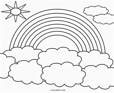 printable rainbow coloring pages  kids