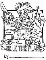 Pirate Plank Pete Coloring Wood Number Pages Template Colorinkids Personalization Ages Popular Designs sketch template