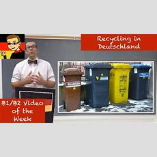 Intermediate German #28 Recycling In Germany Youtube