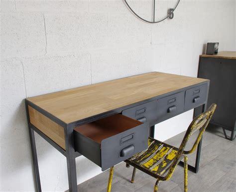 bureau industrielle bureau industriel à tiroirs en métal fabrication française