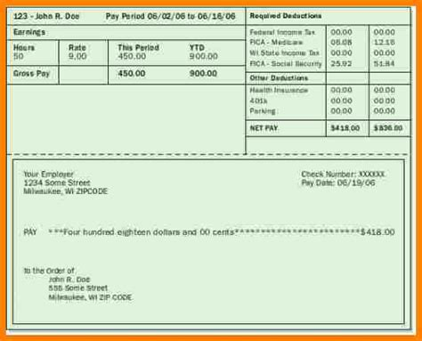 5+ Free Paycheck Stub Maker  Samples Of Paystubs