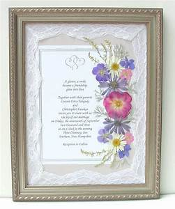 Framed wedding invitations with real pressed flowers for Framed wedding invitation dried flowers