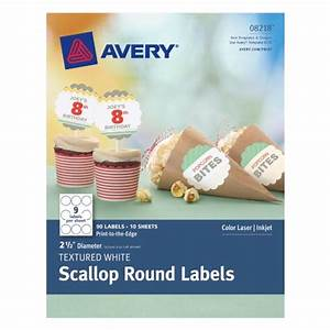 avery textured scallop round labels white 25 inch With avery 1 5 round labels