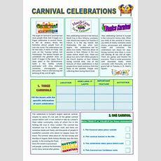 Carnival Celebrations Intermediate Level  Interactive Worksheet