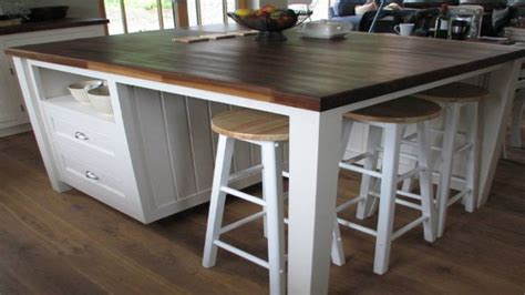 freestanding kitchen island with seating pretty standing kitchen island with seating ideas