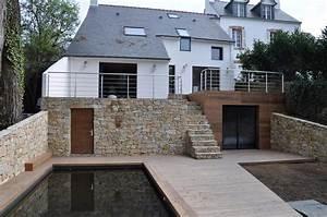 construction d39une maison etude de sol et types de With amenagement de terrasse exterieur 1 amenagement autour dun pavillon neuf