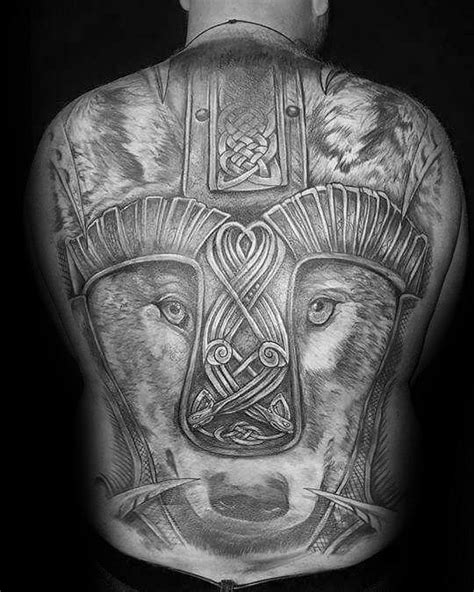 50 Celtic Wolf Tattoo Designs For Men - Knotwork Ink Ideas