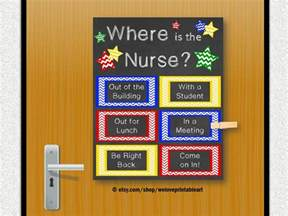 school nurse gift nursing decor office door nursing gift