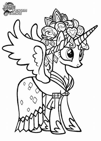 Coloring Pages Prince Cadence Pony