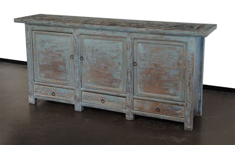 Sideboard Media Cabinet by Vintage Sideboard Buffet Media Console In Light Blue