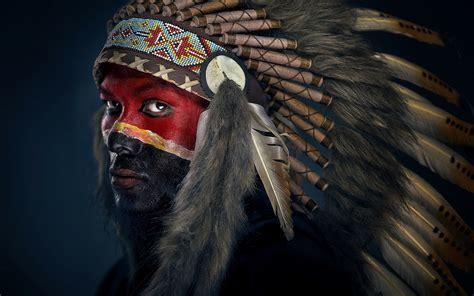 painted face apache colour man HD wallpaper