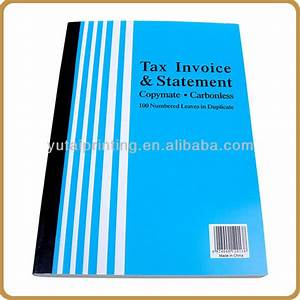 mulitipurpose carbonless sample hotel invoice book buy With custom invoice books vistaprint