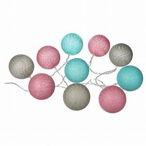 Guirlande Lumineuse Boule Rose : guirlande led 10 boules 165cm rose bleu ~ Melissatoandfro.com Idées de Décoration