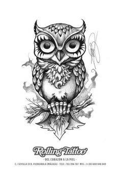 Owl with key and lock   Tattoo Ideas   Pinterest   Tattoo