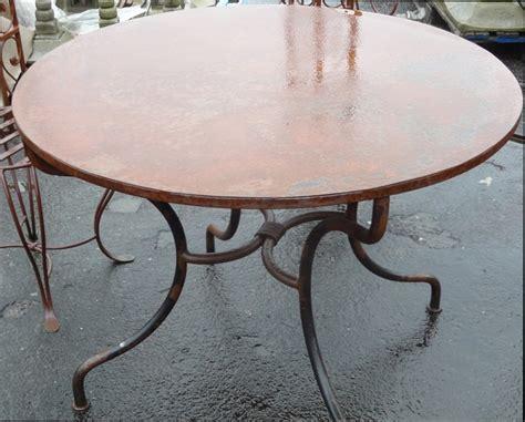 table de cuisine en fer forgé table pied fer forge plateau bois 28 images table
