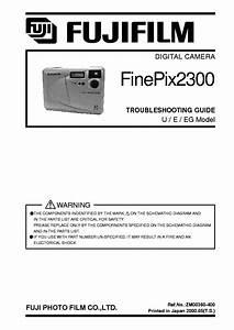 Fujifilm Finepix 2300 Troubleshooting Guide Service Manual