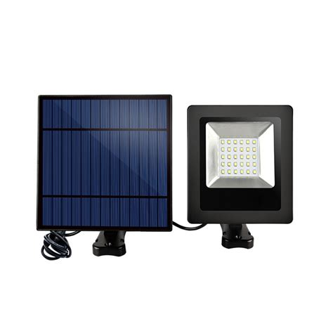 solar power 30 white led lght controlled flood wall light
