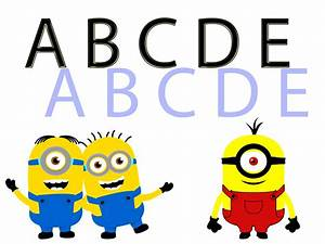 minions singing the abc alphabet song learn the abcd With singing letters