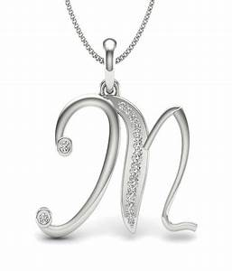 aamanat letter m pendant in sterling silver austrian With diamond letter m pendant