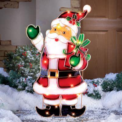 light  santa outdoor christmas decoration