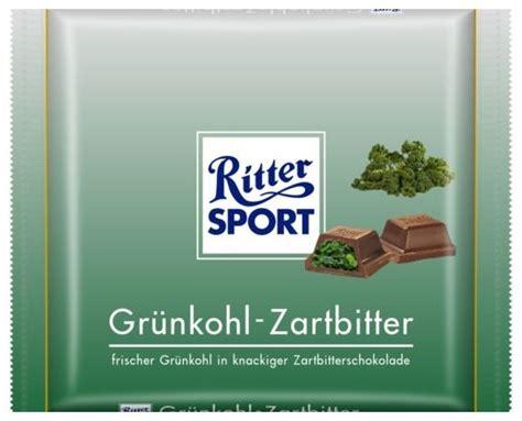 ritter sport fake schokolade gruenkohl zartbitter ritter