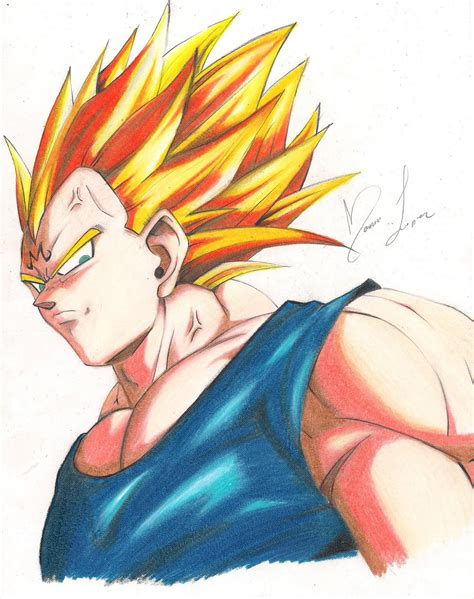 color con z dibujo de vegeta majin a color taringa