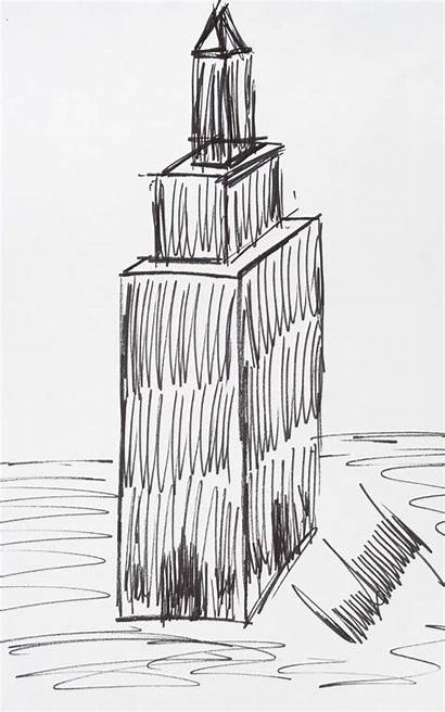 Sketch Building Empire State Trump Donald Sells