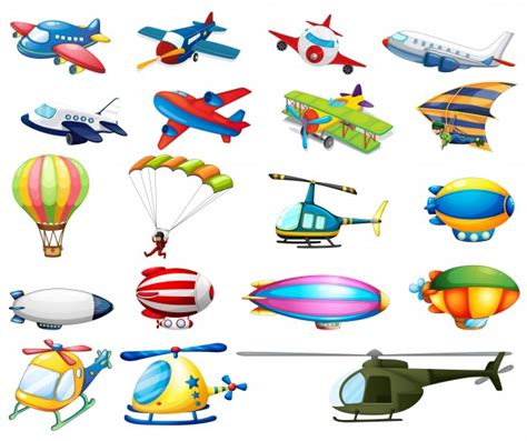 Different Modes Of Air Transportation Vector  Free Download