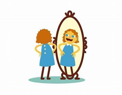 Mirror Clipart Child Looking Self Identity Esteem