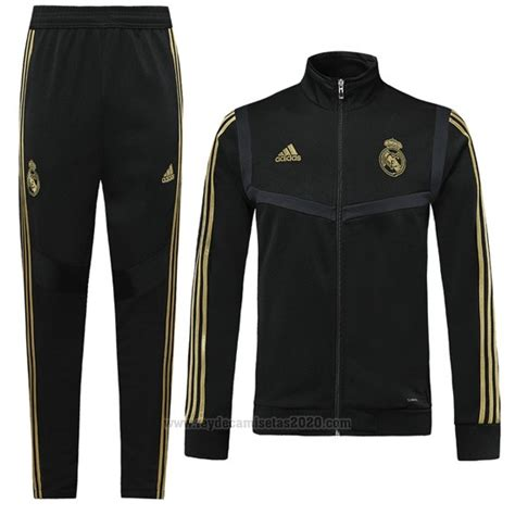 Chandal del Real Madrid Nino 2019-2020 Negro | Camisetas ...