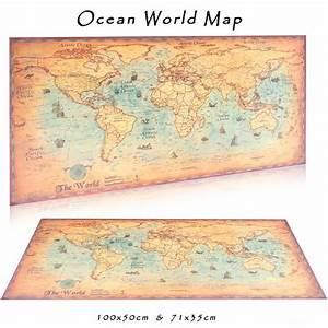 Affiche Carte Du Monde : affiche en papier kraft carte du monde vintage les ~ Dailycaller-alerts.com Idées de Décoration