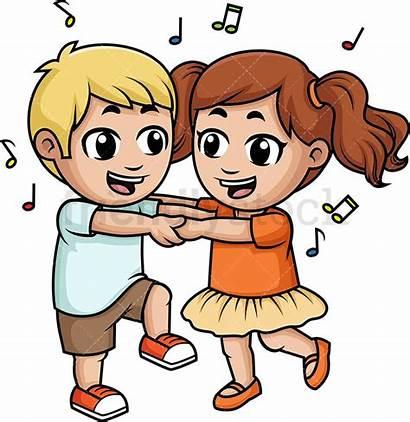 Dance Clipart Child Dancing Children Together Cartoon
