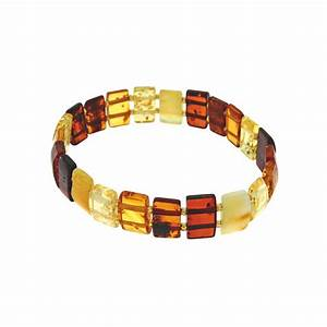 Bracelet Avec Elastique : bracelet lastique avec des pierres d 39 ambre taill es en forme rectangulaire laval europe ~ Melissatoandfro.com Idées de Décoration