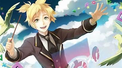 Len Kagamine Vocaloid Rin Piapro Wallpapers Anime
