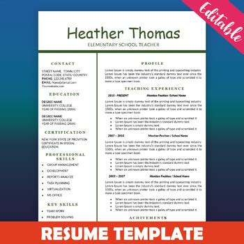 1 Page Resume Template by Resume Template Education Resume One Page Cv