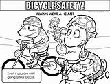Coloring Pages Helmet Safety Bike Colouring Bicycle Road Printable Clipart Riding Sheets Signs Safe Tips Wear Bicycles Medium Template Traffic sketch template