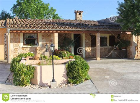 Luxury Mediterranean Home, Mallorca, Spain Stock Image