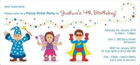 fancy dress birthday party invitation fancy dress