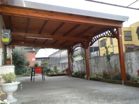 costruire tettoia legno auto tettoia in legno a verona