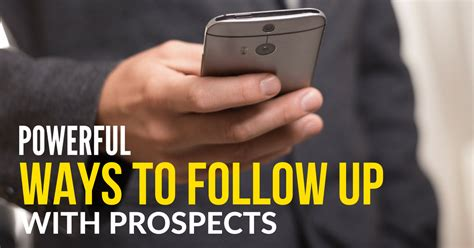 powerful ways to follow up with prospects