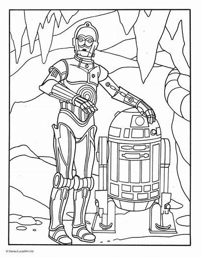 Coloring Pages Popular 3po R2 D2