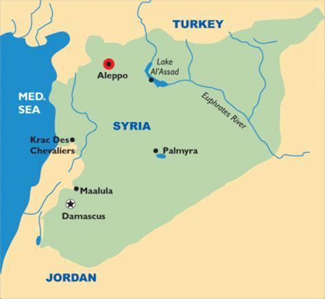 Aleppo Syrien Karte