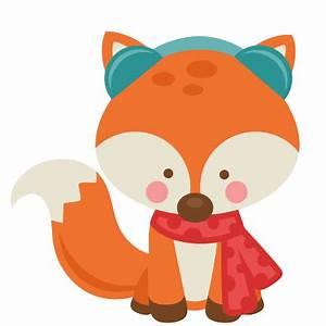 Girl Winter Fox SVG scrapbook cut file cute clipart files ...