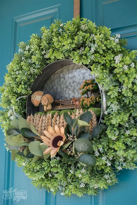 fall fairy garden wreath  diy mommy