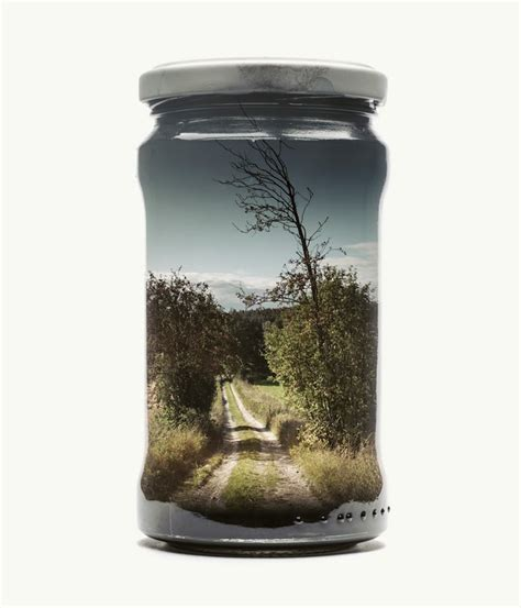 photographer collects landscapes  jars  double