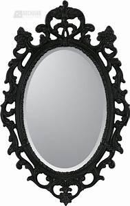 Malanta Knowles 8851 Black Ornate Traditional Oval Mirror