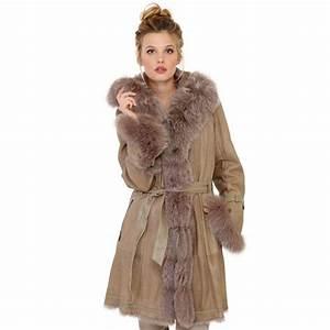 Manteau Homme Avec Fourrure : manteau newty giovanni en fourrure femme champagne ~ Melissatoandfro.com Idées de Décoration