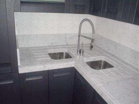 lavelli in okite top cucina ad angolo con gocciolatoio ribassato cana